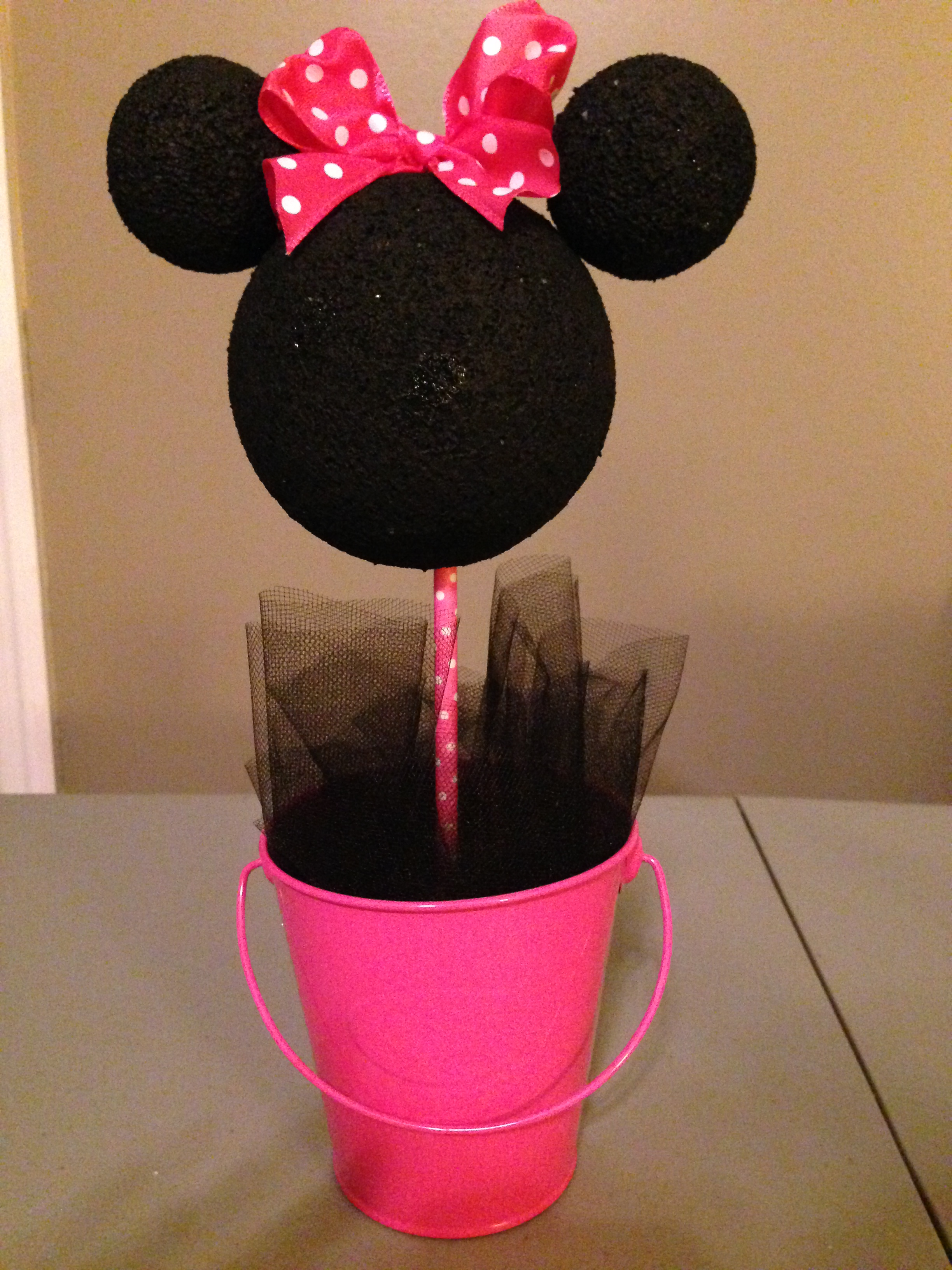 Minnie mouse centerpieces denisemaycreations