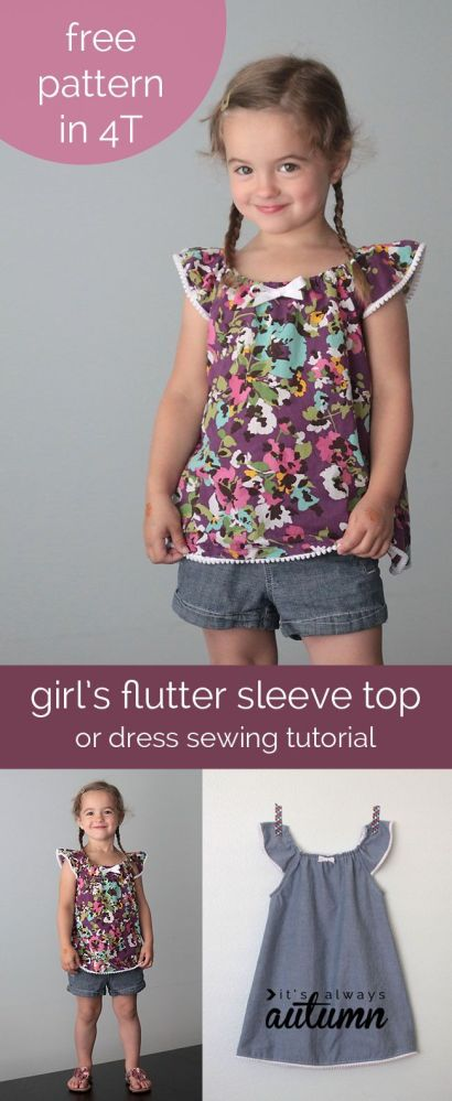 DIY Toddler Flutter Sleeve Dress/Top  (1/6)